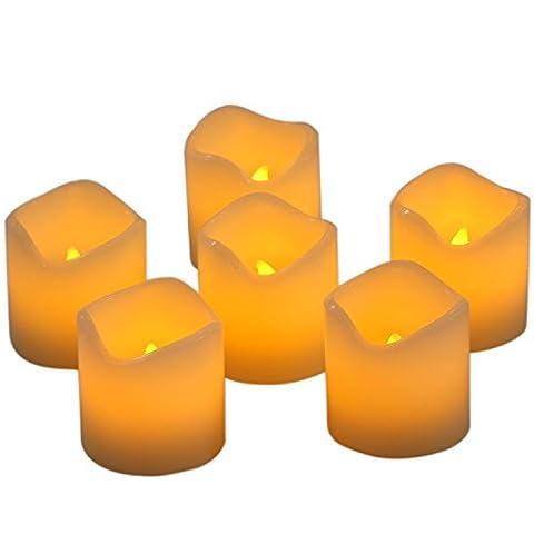 Homemory Lot de 6 Bougies à LED de Thé à Piles Sans Flamme