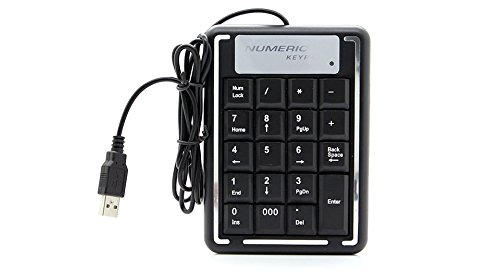 Aeoss USB 19 Key Number Numeric Keypad Keyboard For Laptop/Notebook PC Computer
