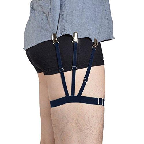 c88d1b4bbbf Lana Vels GOLDDUSTPRO Shirt Stays Holder Elastic Garters Belt Non-slip  Locking Clamps GARTER ( 1 Pair ...