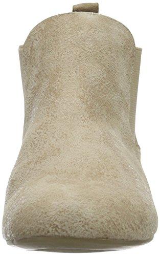 Caprice 25301, Bottes Chelsea courtes, doublure froide femme Beige (Beige Suede)