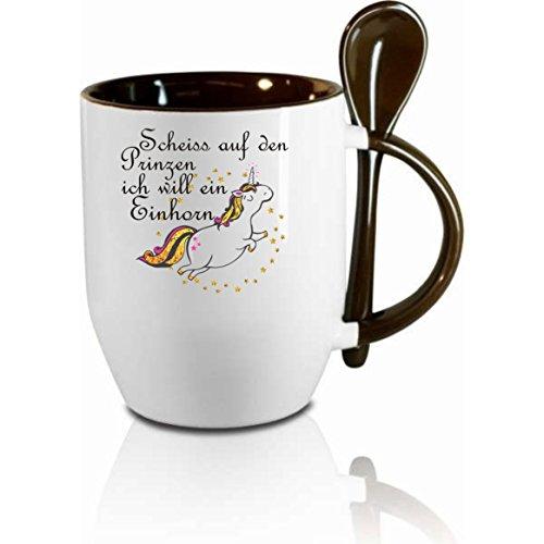 Tasse-m-Lffel-Scheiss-auf-den-Prinzen-ich-will-das-Einhorn-Lffeltasse-Kaffeetasse-mit-MotivBrotasse-bedruckte-Tasse-mit-Sprchen-oder-Bildern-auch-individuelle-Gestaltung-nach-Kundenwunsch