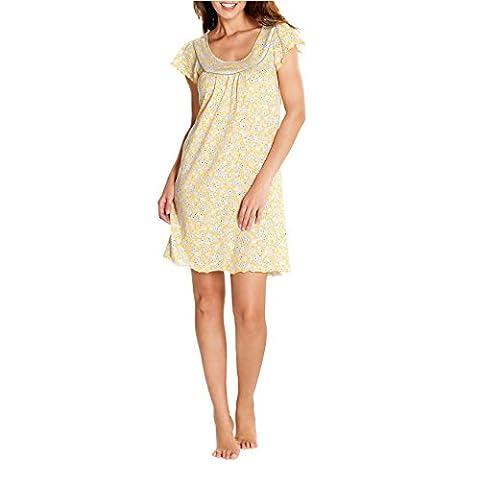 Cybele Damen Nachthemd Kurzarm L 90 cm Größe 48 Sleepshirt Nachtwäsche
