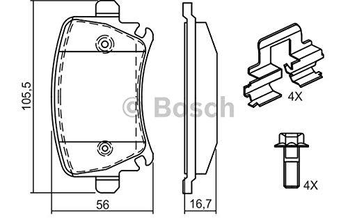 Bosch 0 986 494 595-4 pastiglie freno posteriori