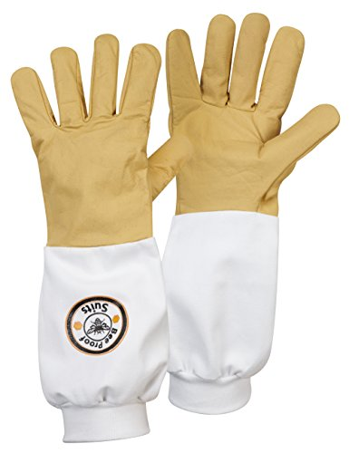 Bee Proof Suits Bee Keeper's Hard Wearing Cow Hide Gloves (Brown, Large) Test