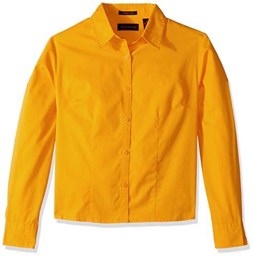 Clementine Damen ULTC-8976-Whisper Twill Shirt Smokinghemd, Gold, X-Groß Gold-twill