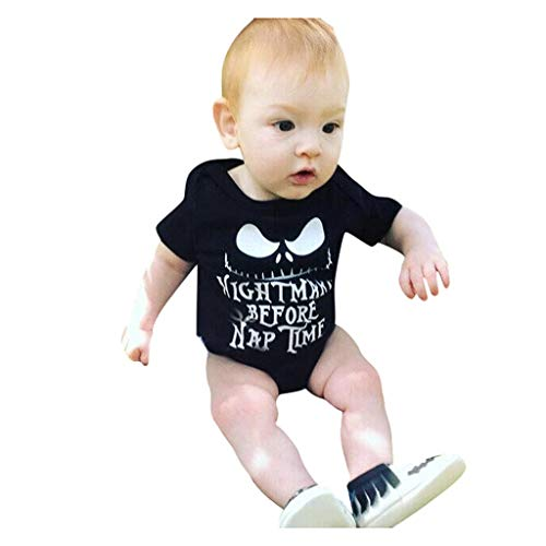 Romantic Halloween Kostüme Kinder Kleinkind Baby Kurzarm Jungen Strampler Overall Top T-Shirt Devilkostüme Strampler Baby Spielanzug Baby-Strampler für Jungen Kinder Halloween - Jungen Höhle Baby Kleinkind Kostüm