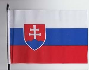 Slowakei Hand, Fahne 23 cm x 15 cm