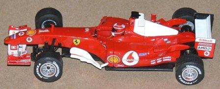 Scalextric Slot Car SCX 6173 Ferrari F 2004 Nº1
