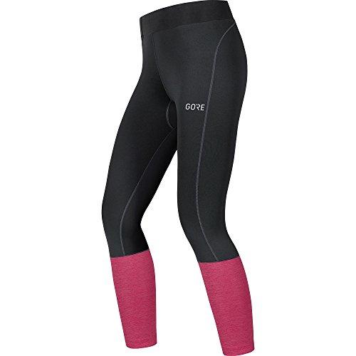 GORE WEAR Damen R3 7/8 Tights, Black/Jazzy pink, 42