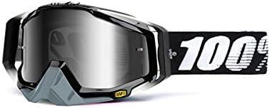 100% Racecraft Brille Abyss - Spiegel Silber Linse, Schwarz, Größe One Size