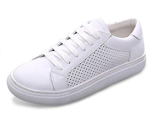 Diamant durchbrochene Spitze weiße Schuhe Frauen Schuhe ein Pedal mit schweren Boden Aufzug Schuhen Frauen Schuhe Damen Herbst White
