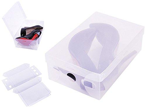 durchsichtige schuhkartons Iso Trade Schuhbox Aufbewahrungsbox 30cm Schuhschachtel Schuhkarton Stapelbox #2288