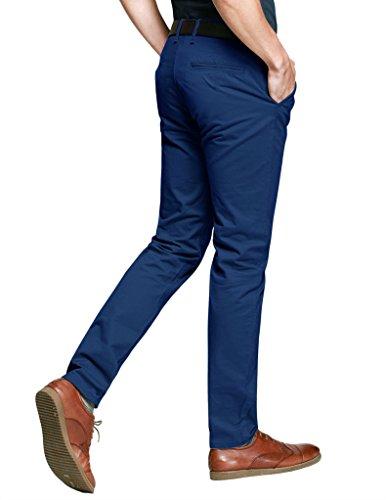 Match Pantalons Casual Slim Tapered pour Homme #8025 8025 Bleu saphir(Sapphire blue)