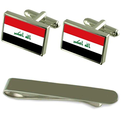 Irak Bandera GEMELOS PLATA Clip Box Set de regalo
