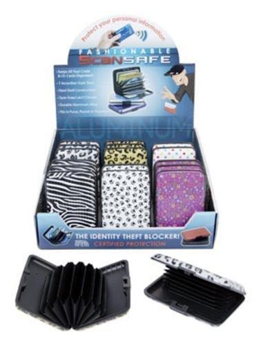 Scan safe credit card wallet aluminum - random colors shipped by DM Merchandising Scan-safe Wallet