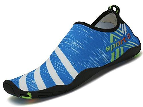Pastaza Badeschuhe Wasserschuhe Schwimmschuhe Sommer Aquaschuhe Herren Strandschuhe Schnell Trocknend Barfuß Schuhe für Damen Jungen Mädchen, Blau 41