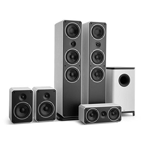 Preisvergleich Produktbild NUMAN Octavox 751 MKII 5.1-Kanal Surroundsound Heimkino Lautsprechersystem (280 Watt, computeroptimierte Gehäuse, Octavox WaveGuide, Bi-Wiring-Kontakte) weiß