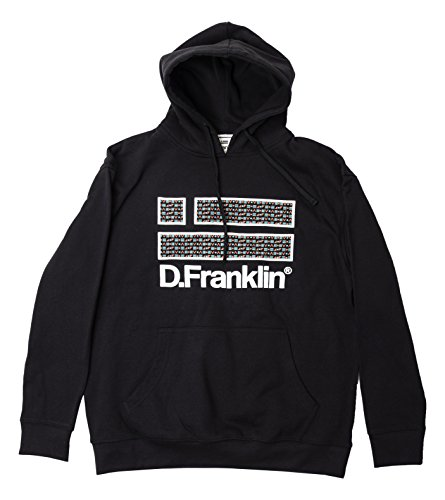 D. Franklin Unisex Sweatshirt Hoodie Negro Etnico Schwarz