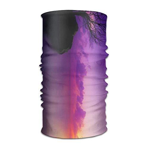 Artistic Cloud Ocean Pastel Purple Rock Sunset Tree Fashionable Outdoor Hundred Change Headscarf Original Multifunctional Headwear Damen-cloud-cover-rock