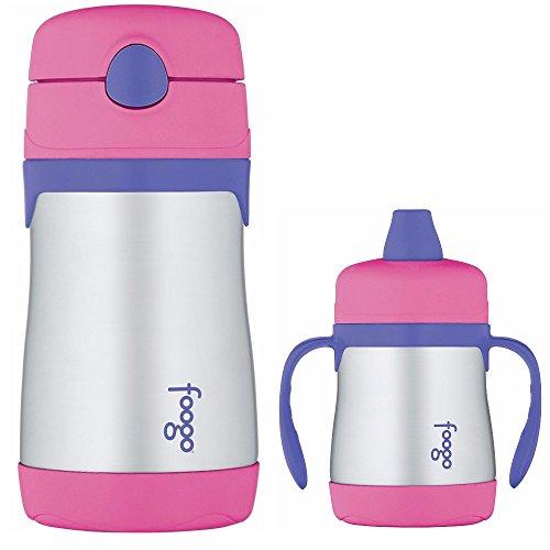 THERMOS FOOGO Vakuum isolierte S / S Food Jar und Wasserflasche Bundle - Pink / Lila