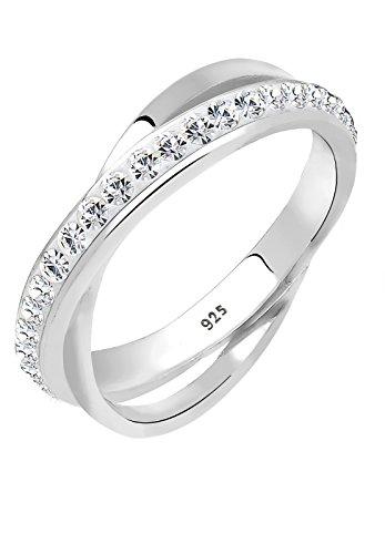 Elli Damen-Ring 925 Sterling Silber mit Kristallen von Swarovski Gr. 58 0606860313