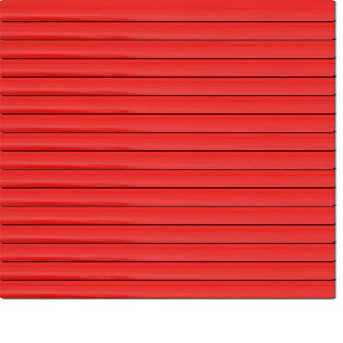 Dekologi Aluminium Jalousie 180 x 110 cm (Breite x Höhe) - Lamellenfarbe 1308 rot, Rückseite weiß//Maßanfertigung Alu Jalousien Jalousette Rollo Plissee