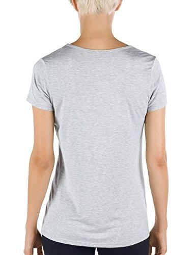 Calida Damen T-Shirt kurzarm Favourites Grau (stein meliert 096)