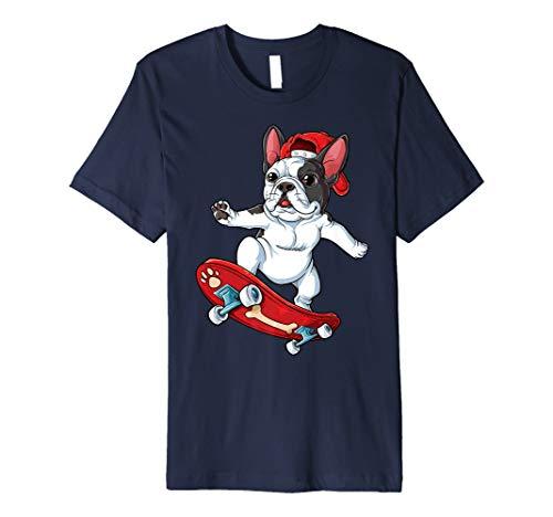 Französische Bulldogge Skateboard T shirt Skateboarding Hund (Skateboards Für Hunde)