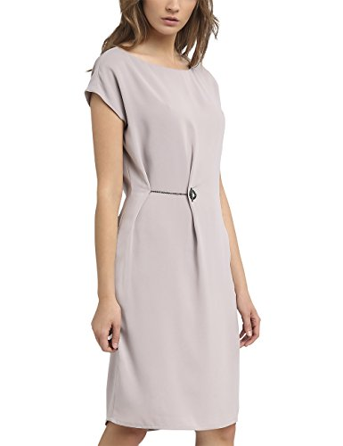 APART Fashion Damen Kleid 33125 Grau (Taupe) 40