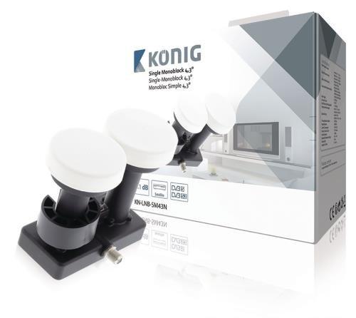 König LNB Single Monoblock 4,3 Grad 1.1 dB