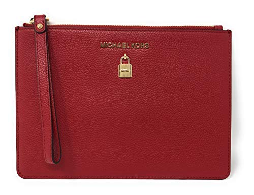 Adele Clutch (Michael Kors Adele XL Large Zip Leather Clutch Wristlet Purse)