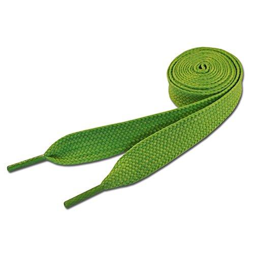 Lacets de skate vert (NEON GREEN) 20mm x 120cm