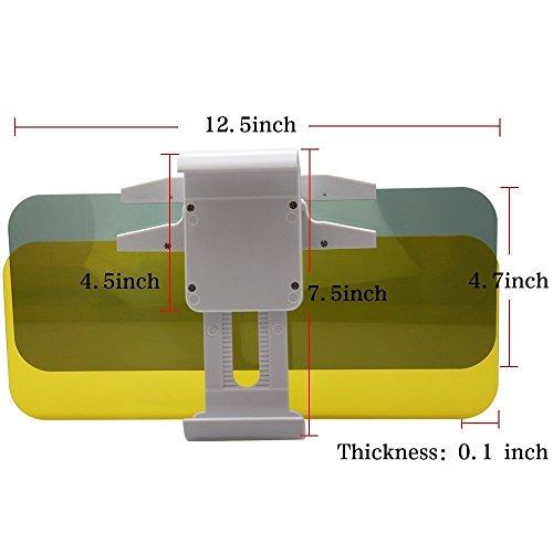 Auto-Protezione-solare-2-in-1-auto-parasole-anti-abbagliamentoGiorno-e-Notte-guida-Parasole