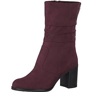986d07f7923a Tamaris Damen Stiefel 25088-31,Frauen Boots,Blockabsatz 7cm,Merlot,EU