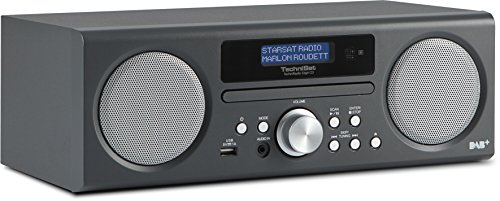 TechniSat TECHNIRADIO DIGIT CD / Digital-Radio mit CD-Player, MP3-Player, DAB+, PLL-UKW Tuner, USB, 10 Watt RMS,  anthrazit (Cd Player Mp3 Radio)