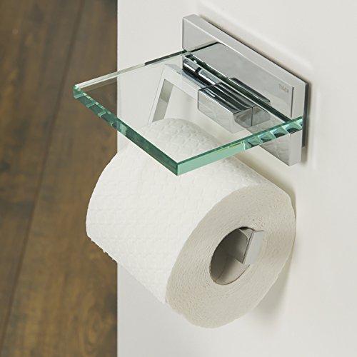 Tiger 264130346 Safira Toilettenpapierhalter Mit Ablage, Chrom