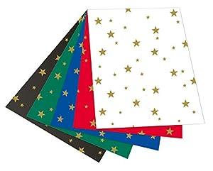 Folia 5899-Cartulina con Estrellas, 50x 70cm, 10Hojas, Surtidos