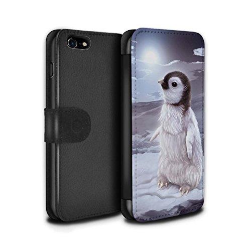 Offiziell Elena Dudina PU-Leder Hülle/Case/Tasche/Cover für Apple iPhone 8 / Ja Mama/Löwe/Cub Muster / Die Tiere Kollektion Der Reisende/Pinguin