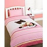Kids/Childrens Rachael Hale Snickers Cat Bedding Duvet/Quilt Cover Set (Single Bed)