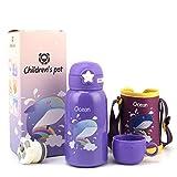 Wenjie Trinkflasche für Kinder, 19oz Kinderbecher Trinkbecher mit Thermobecher-Abdeckung für Kinder Outdoor- / Indoor-Aktivität - Ozean