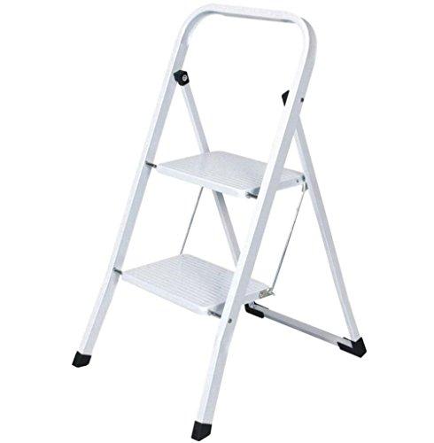 Preisvergleich Produktbild Faltbar 2Schritt Stahl Leiter rutschfeste Stehleiter Sicherheit Küche