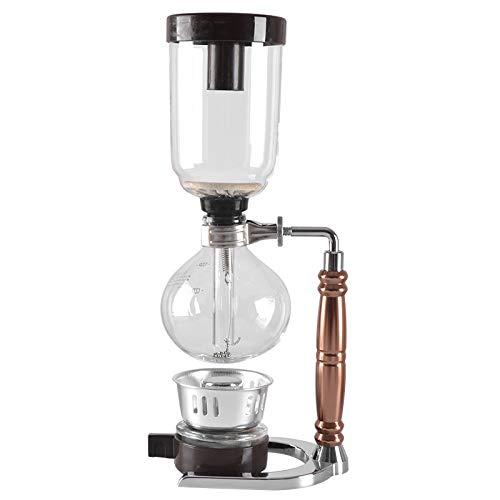 Siphon Kaffeemaschine Tee Siphon Topf Vakuum Kaffeemaschine Glas Typ,Gold - Kaffeemaschine Vakuum Glas