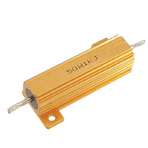 1000Ohm 5% 50Watt Draht Wunde Aluminium Fall Power Resistor Gold Ton Preis