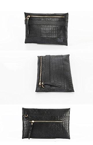 Home Monopoly Borsa della borsa nuova borsa femminile della signora borsa Messenger Bag di modo ( Colore : Nero ) Nero