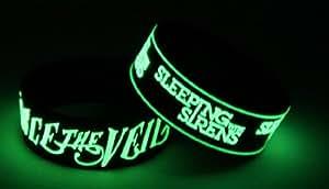 "Armband ""Pierce the Veil"" und ""Sleeping With Sirens"", leuchtet im Dunkeln, Armband, V7S8"