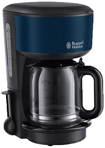 Russell Hobbs 20134-56 Colours Royal Blue Glas-Kaffeemaschine, innovative Brausekopf-Technologie, Schnellheizsystem, 1,25 L