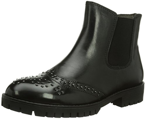 Tamaris 25081, Stivaletti Beatles Donna Nero (Schwarz (Blk/Blk Brush 29))