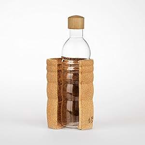 Lagoena Trinkflasche mit Lebensblume weiss