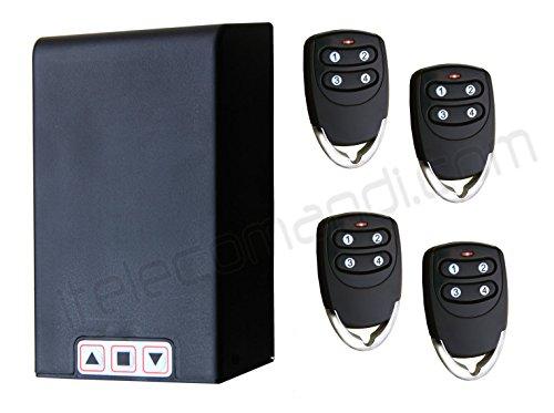 Hiland - Kit universal de centralita para persianas TM5811con mandos a distancia, para persianas normales y enrollables, funciona con cualquier motor de hasta 1 HP, receptor y mandos incluidos, posibilidad de conectar fotocélulas o intermitentes