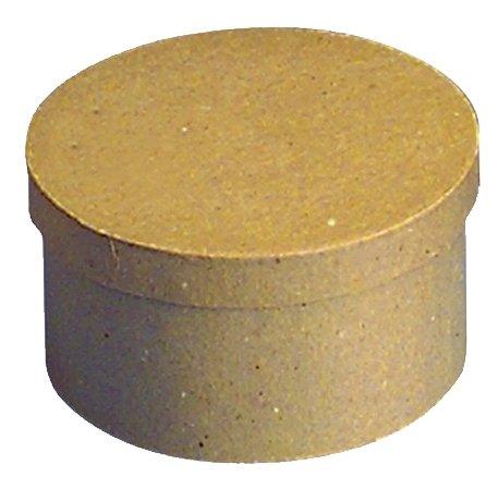 Rayher 71741000 Pappmachà Schachtel FSC Recycled 100%, rund, 8cm hoch,
